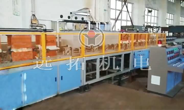 Steel quenching and tempering production line