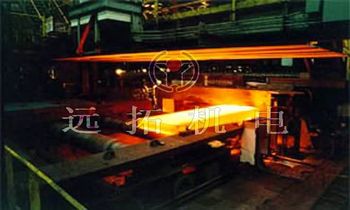 Continuous steel plate heating furnace