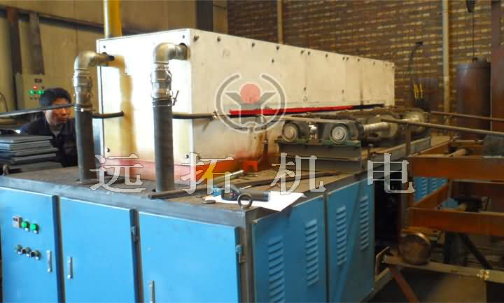 Hot rolled sheet heating production line