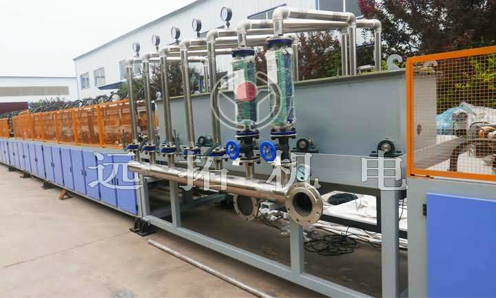 Induction quenching and tempering production line for seamless pipe