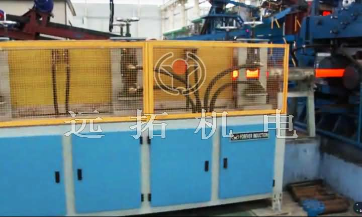 Medium frequency heating furnace for rolling